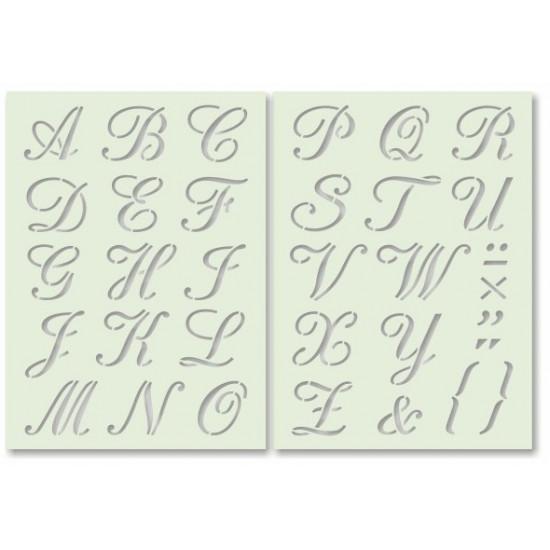 Betűk 3. írott nagybetűk - tartós sablon pár Arcfestés sablon